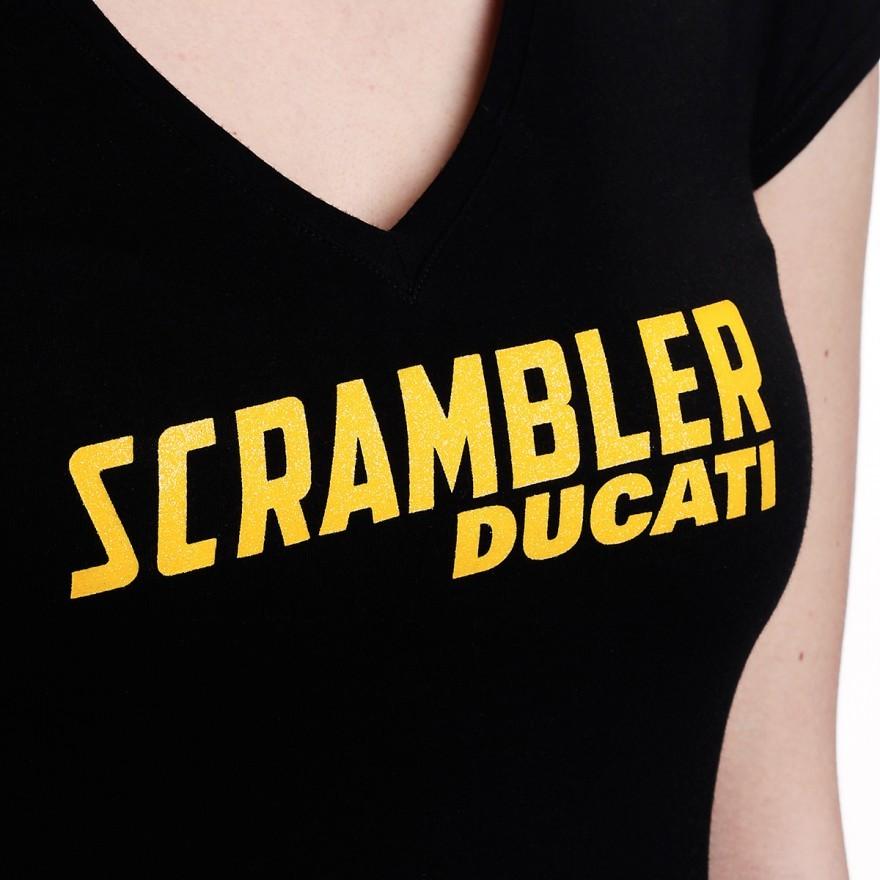 Scrambler Ducati Midnight T Shirt Ladies