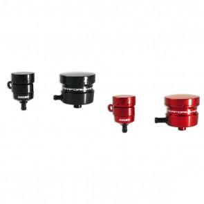 Ducati Billet Aluminium Brake & Clutch Fluid Reservoirs - Red