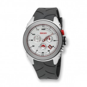 Ducati Silver & White Quartz Watch