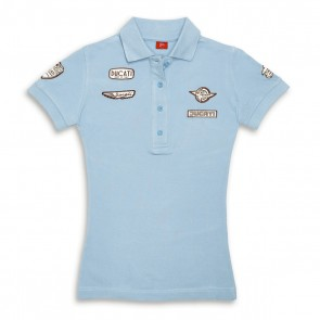 Ducati Historical Womens Short-Sleeved Polo