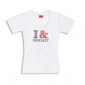Ducati I & D Graphic Art Womens T-Shirt