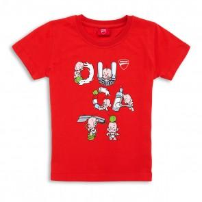 Ducati Babys Letters Graphic Art T-Shirt