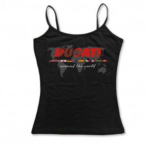 Ducati Flag Singlet Ladies Shirt