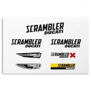 Scrambler Main Logos Sticker Set
