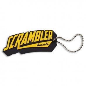 Scrambler PVC Rubber Key Ring