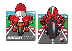 Ducati Cartoon Poncho Bathrobe