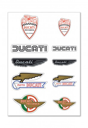 Ducati Mixed Historical Rubber Stickers
