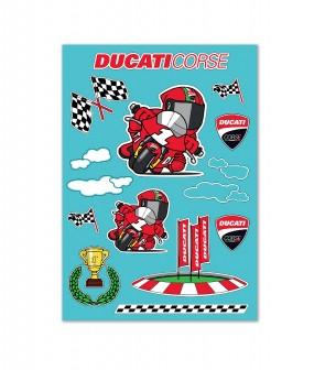 Ducati Cartoon Decorative Stickers