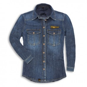 Scrambler Womens Denim Rider Shirt