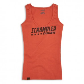 Womens Scrambler Orange Flip Singlet
