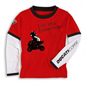 Ducati Corse Kids Long Sleeved T-Shirt